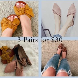 women's shoes 3 pairs for $30